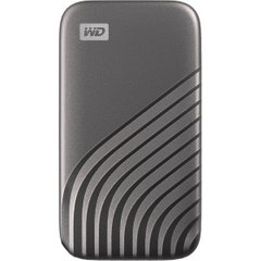 Зовнішній мобільний накопичувач SSD 2TB WD My Passport (WDBAGF0020BGY-WESN) (USB3.2/USB Type-C), Space Gray