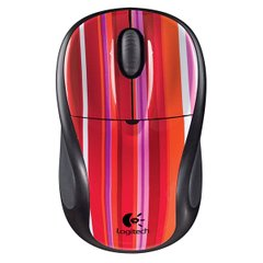 Миша 3 кноп. Logitech V220 Cordless Optical Mouse (Candy Stripe) бездротова (USB)