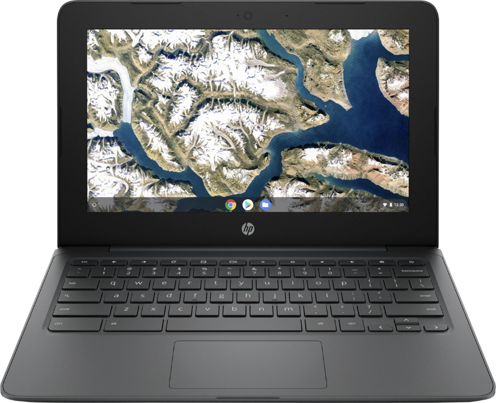 "HP - 11.6"" Chromebook - Intel Celeron - 4GB Memory - 32GB eMMC Flash Memory - Ash Gray - 1"