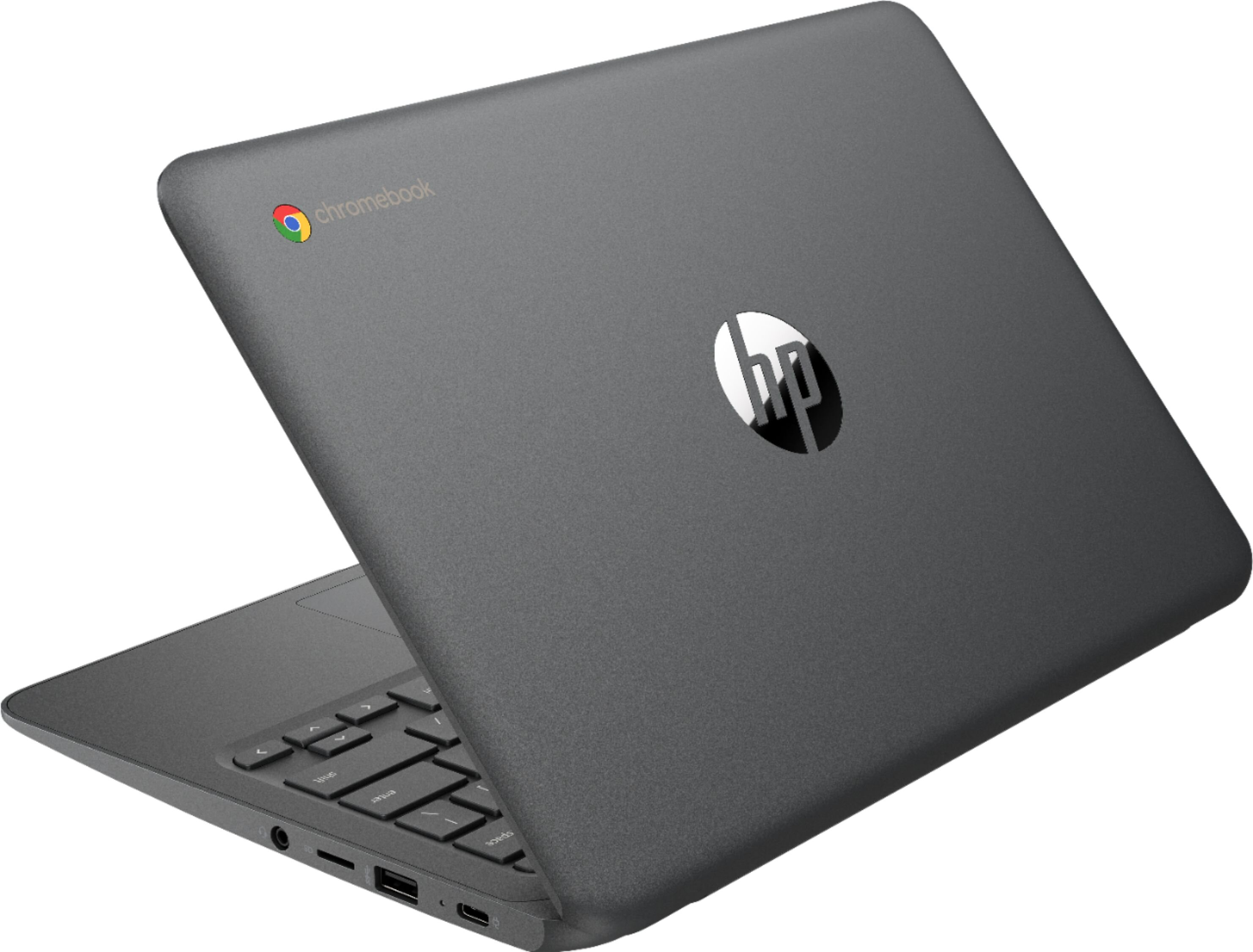"HP - 11.6"" Chromebook - Intel Celeron - 4GB Memory - 32GB eMMC Flash Memory - Ash Gray"