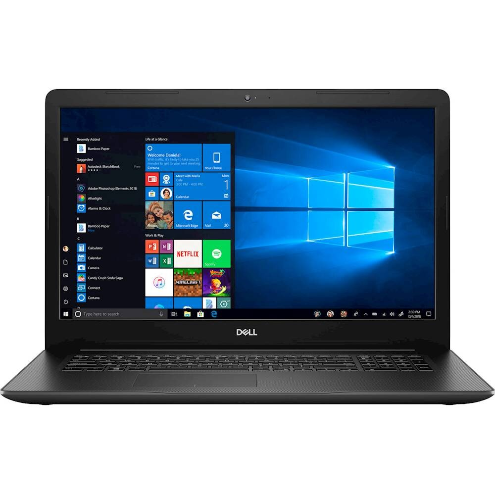 "Dell - Inspiron 17.3"" Laptop - Intel Core i7 - 16GB Memory - 256GB Solid State Drive - 1TB Hard Drive - Black (I3793-7995BLK-PUS)"