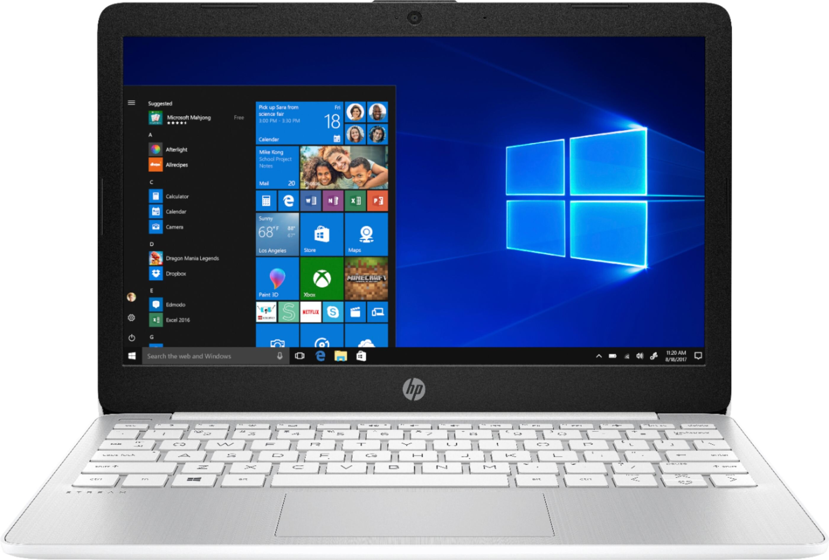 "HP - Stream 11.6"" Laptop - Intel Celeron - 4GB Memory - 64GB eMMC Flash Memory - Diamond White (11-ak0012dx)"