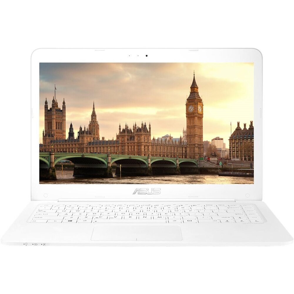 "ASUS - 14"" Laptop - AMD E2-Series - 4GB Memory - AMD Radeon R2 - 64GB eMMC Flash Memory - White (L402YAES22WH)"