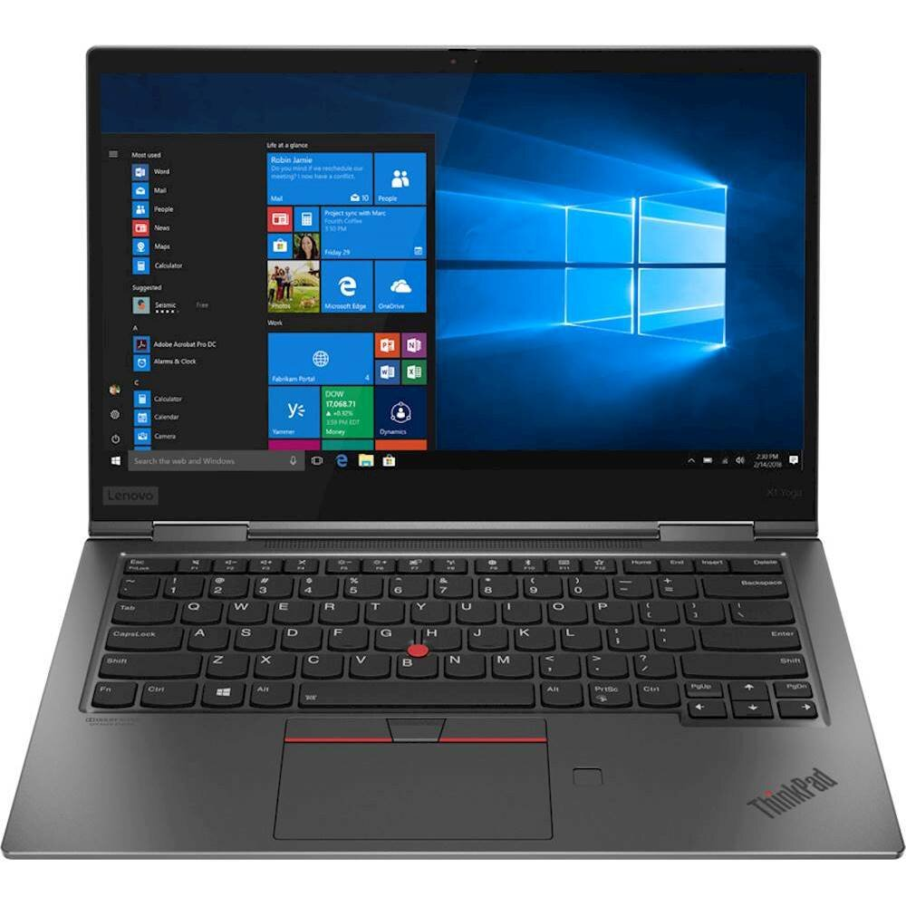 "Lenovo - ThinkPad X1 Yoga 2-in-1 14"" QHD Touch-Screen Laptop - Intel Core i7 - 16GB Memory - 512GB Solid State Drive - Iron Gray"
