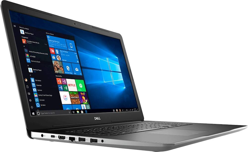 "Dell - Inspiron 17.3"" Laptop - Intel Core i7 - 16GB Memory - 2TB HDD + 256GB SSD - Silver"